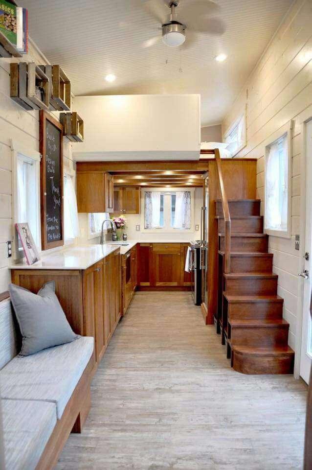 Loft bedroom with walk in kitchen