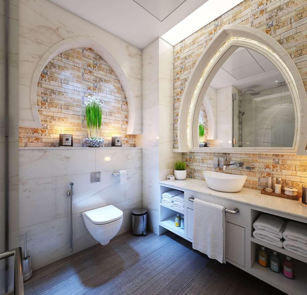 A beautiful shower room